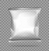 Transparent pillow bag.
