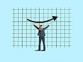 Businesswoman Measuring Success