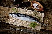 Fresh raw mackerel