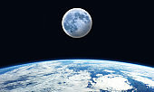 Moon from the Earth - Space Scene