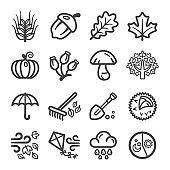 autumn line icon