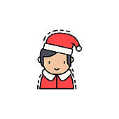 young Santa claus colored icon. Element of new year avatars icon for mobile concept and web apps. Colored young Santa claus icon can be used for web and mobile