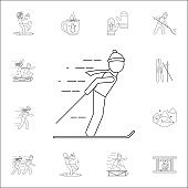 man on skis icon. Winter icons universal set for web and mobile