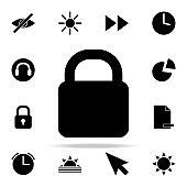 closed lock icon. web icons universal set for web and mobile