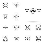 drone with marijuana icon. Drones icons universal set for web and mobile