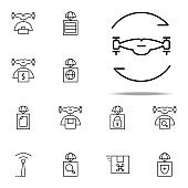 twisting drone icon. Drones icons universal set for web and mobile