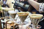 Process of preparation of coffee (coffee machine)