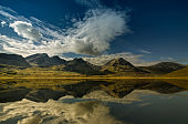 Mountain landscape with lake and reflection