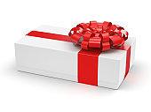 3D rendering White gift box