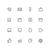 Main outline icon set 02