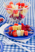 Fruit Skewers for a Picnic - vertical wide