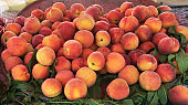 Stack of peach