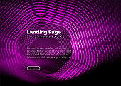 Neon glowing techno hexagon shape lines, hi-tech futuristic abstract background, landing page template