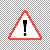 Warning sign, vector