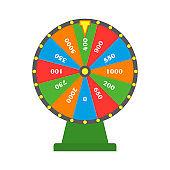 Colorful fortune wheel