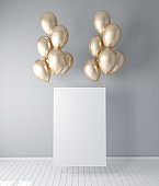 Poster with balloons decor