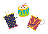 Carnival, masquerade, party and festive accessories. Children music toys