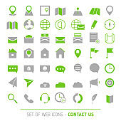Contacts icon set