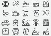Travel Destination Line Icons