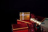 Christmas Birthday Valentine's Day Champagne Gift Box Concept