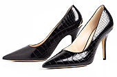 Black high heel female shoes