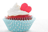 Heart cupcake for Valentine's Day
