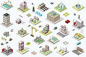 Isometric City Building Icons