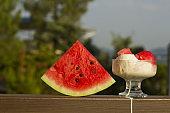 ice cream with watermelon