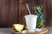 cold drink with pineapple
