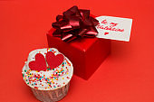 cute cupcakes and gift box