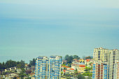 Sochi, Russia city view and Black sea