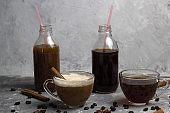 various of  coffee drinks