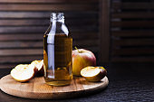 bottle of fresh apple drink