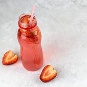 strawberry beverage bottle