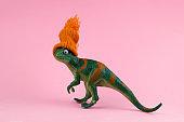 funny green dinosaur toy