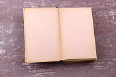open book with blank sheets top view