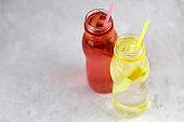 strawberry and lemon drinks