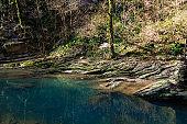 landscape with mountain river Agura