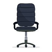 Office chair, director boss armchair, manager seat. vector