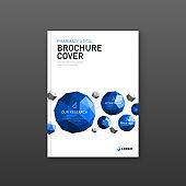 Medical brochure cover template, flyer design layout