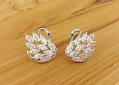 Beautiful Design of Jewelry Fashion Accessories for Women and lady Shiny crystal or diamond Earrings