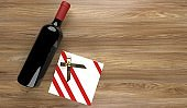 Red Wine Bottle With Gift Box