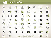 Hotel Services icon set - vector icons