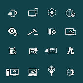 Web, internet Marketing Icons Set