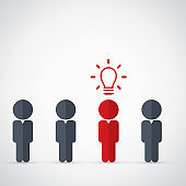 Think differently - Being different, move for success in life - standing out from the crowd