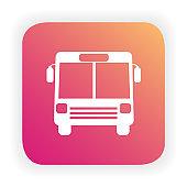 Bus icon. Public transport.
