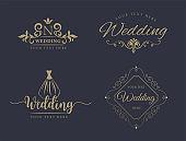 Monogram design elements, graceful template. Calligraphic elegant line art   design. Set. Business sign for Royalty, Boutique, Cafe, Hotel, Heraldic, Jewelry, Wine. Vector illustration