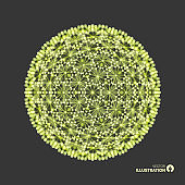 Sphere. 3d vector wireframe object. Illustration with connected lines and dots. Abstract grid design. Connection structure. Technology style.