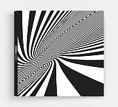 Cover design template. Pattern with optical illusion. Abstract striped background. Vector illustration.