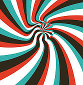 Pattern with optical illusion. Abstract striped background. Vector illustration.